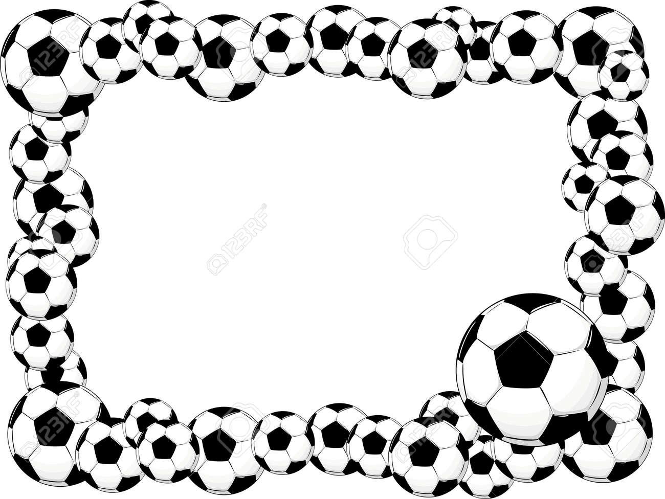 a6ff3266b53 soccer balls frame Stock Vector - 5194465