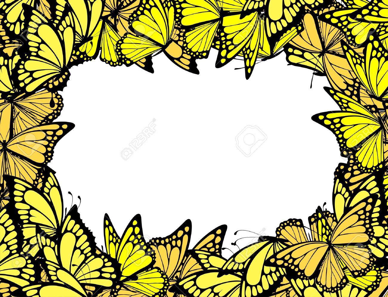 butterflies border individual objects in vector format royalty free rh 123rf com vector borders free vector border art