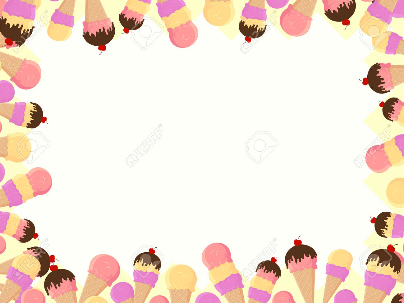 frame with ice cream Stock Vector - 9279550