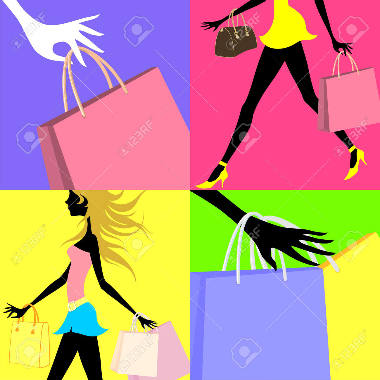 shopping related Stock Vector - 9934245