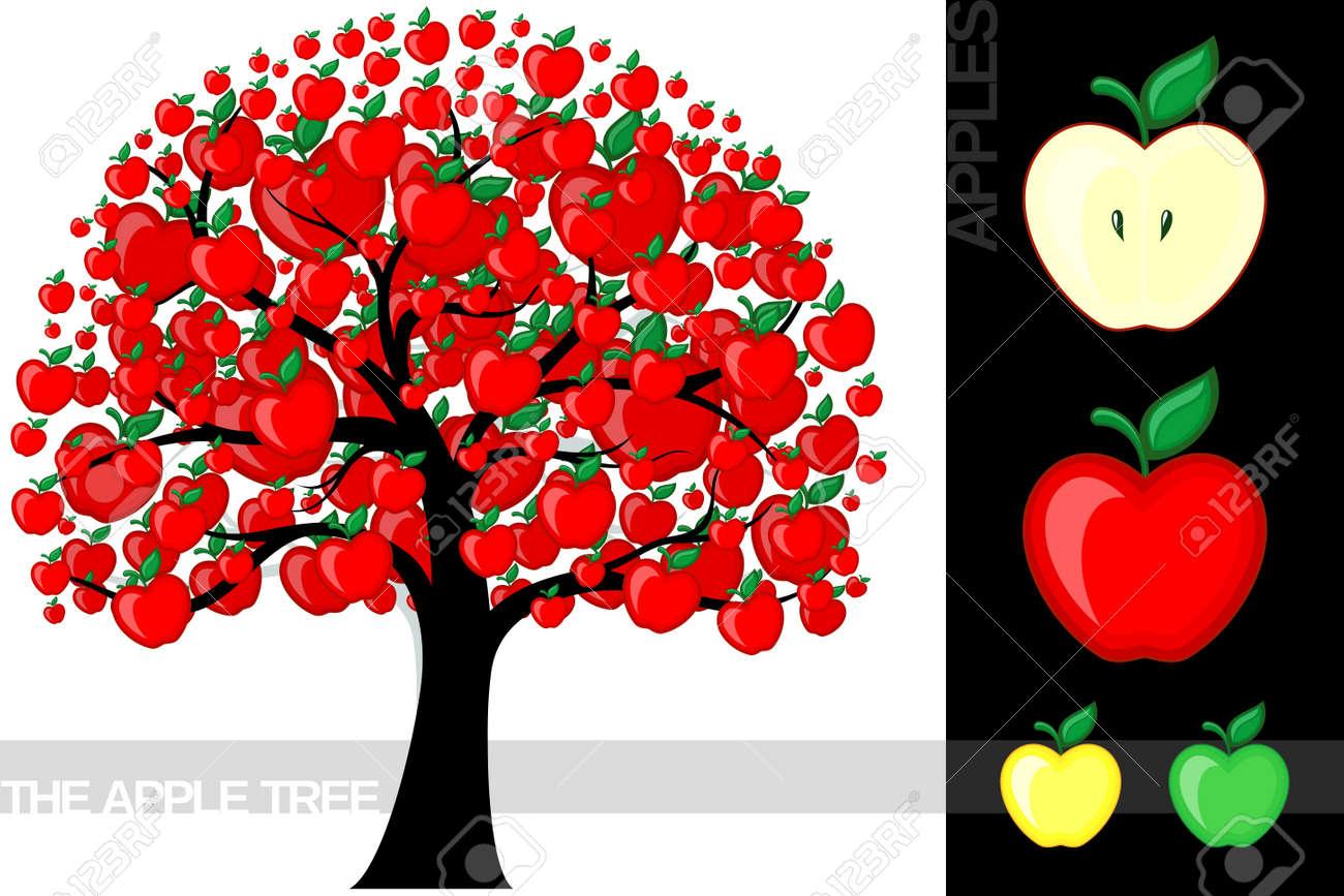 Apple Tree Cartoon Images of a Cartoon Apple Tree