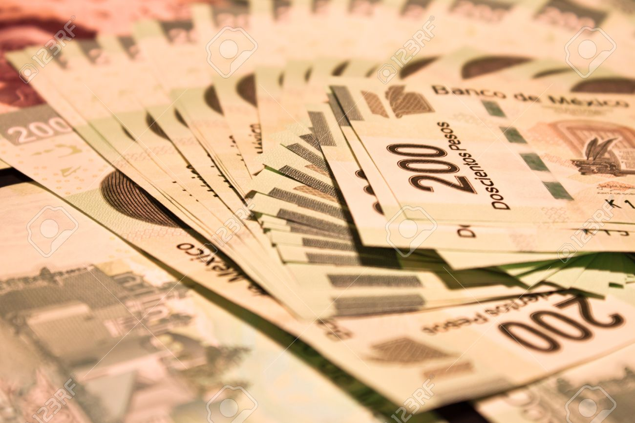 Mexican Money Bills Background Stock Photo Picture And Royalty Free