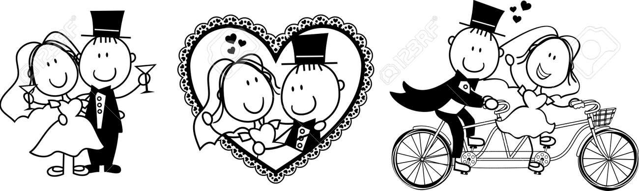 Satz Von Isolierten Cartoon Paar Szenen Ideal Fur Lustige
