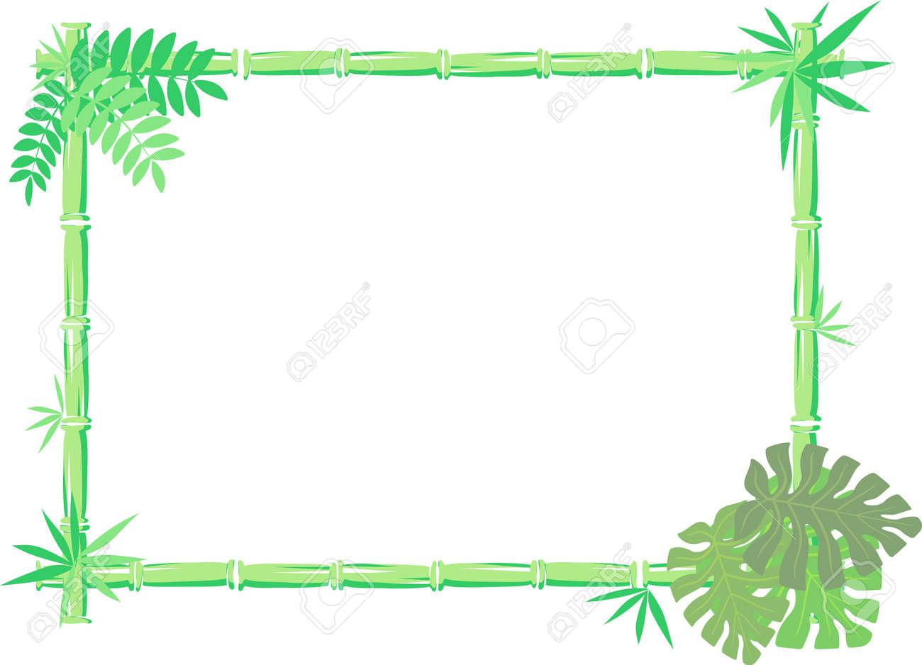 Vektor-Bild Von Bambus-Rahmen Auf Weißem Hintergrund, Einzelne ...