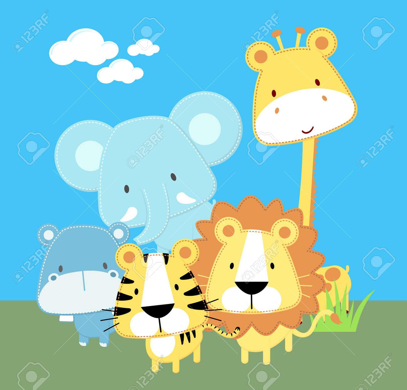 Cute safari wallpaper stock collection 12 wallpapers cute safari wallpaper stock image image 29894881 voltagebd Images