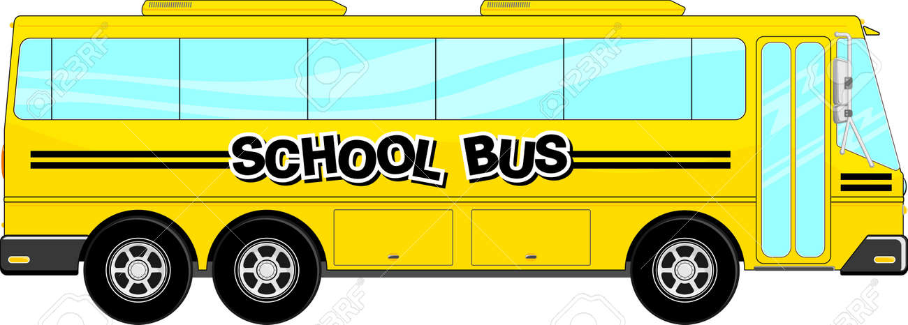 yellow school bus isolated on white background royalty free cliparts rh 123rf com