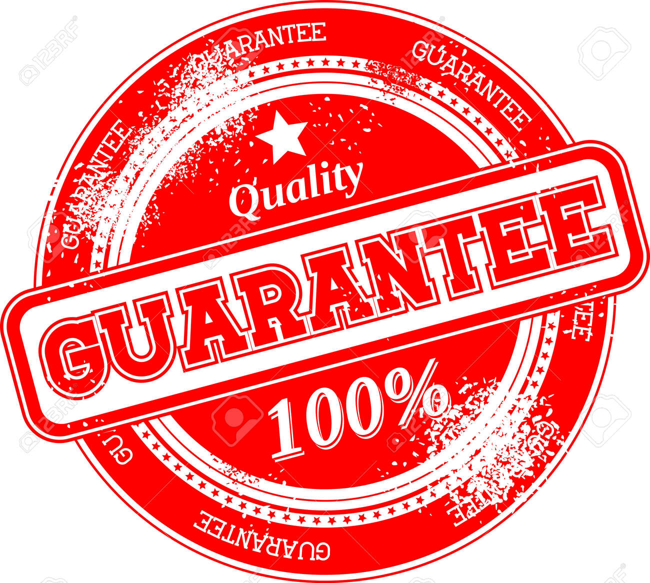 guarantee grunge stamp isolated on white background Stock Vector - 22568201