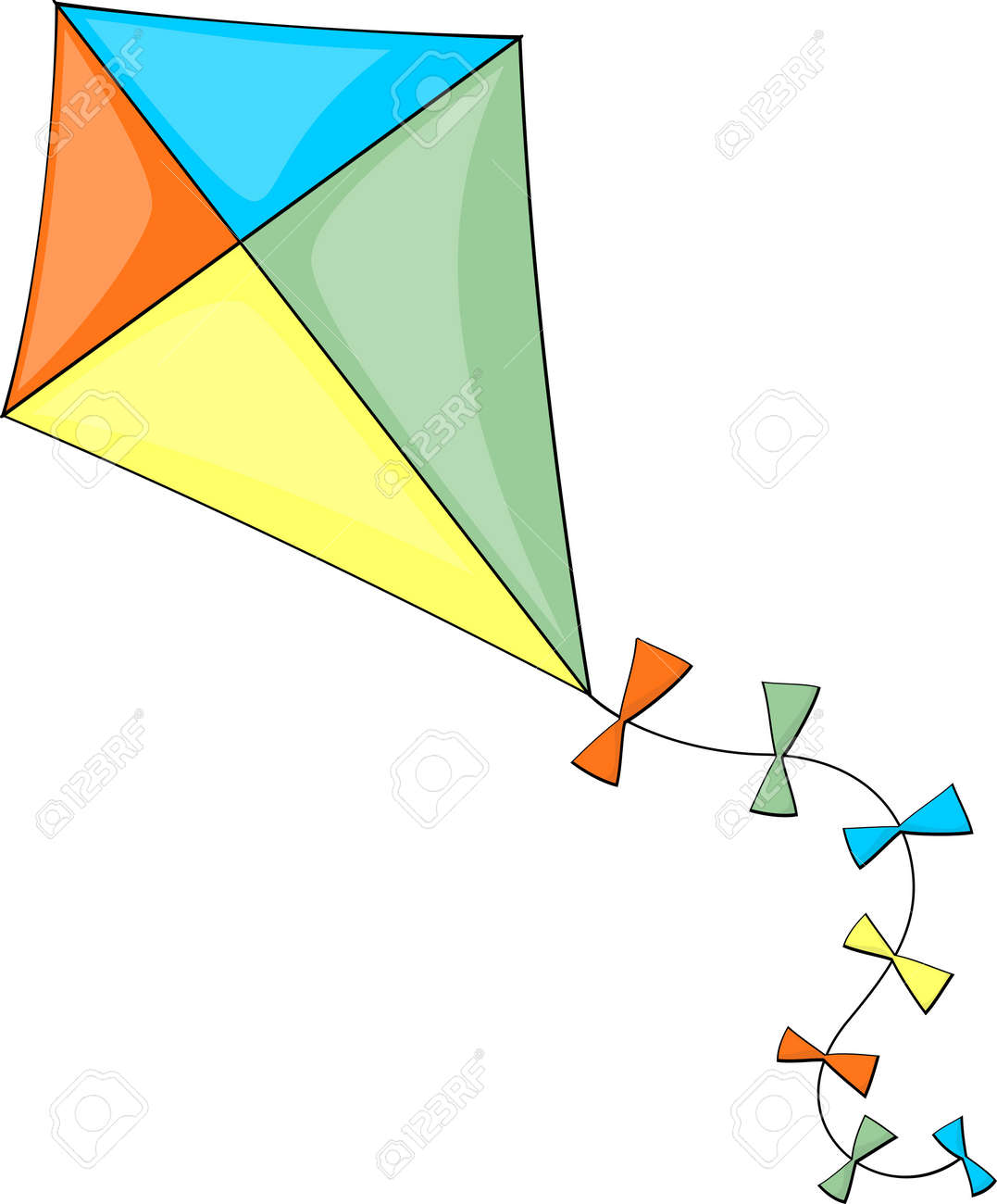 Illustration of colorful kite isolated on white background royalty illustration of colorful kite isolated on white background stock vector 32836429 biocorpaavc