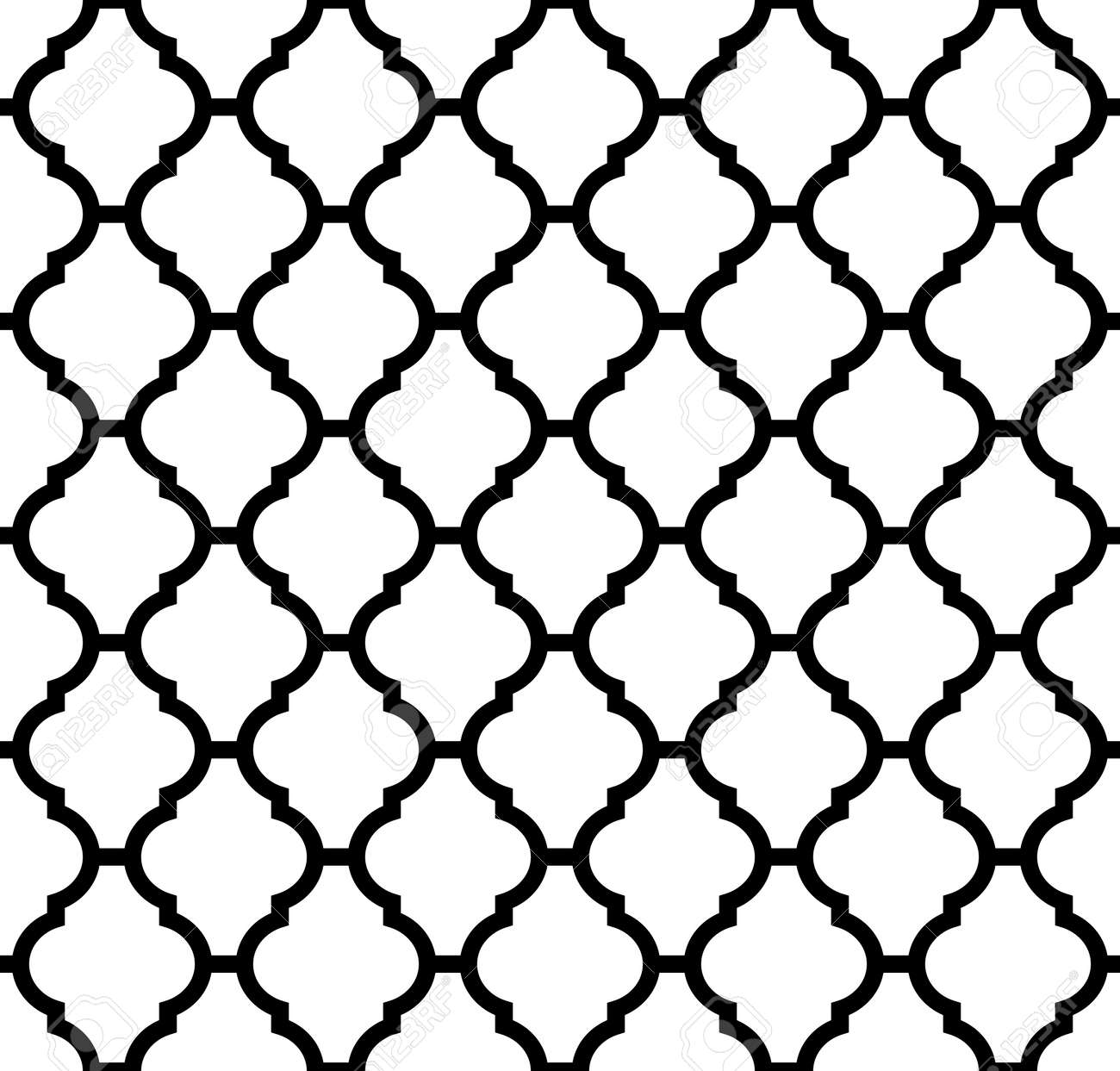 moroccan seamless pattern in black and white royalty free cliparts rh 123rf com arabic geometric patterns vector free geometric patterns vector download