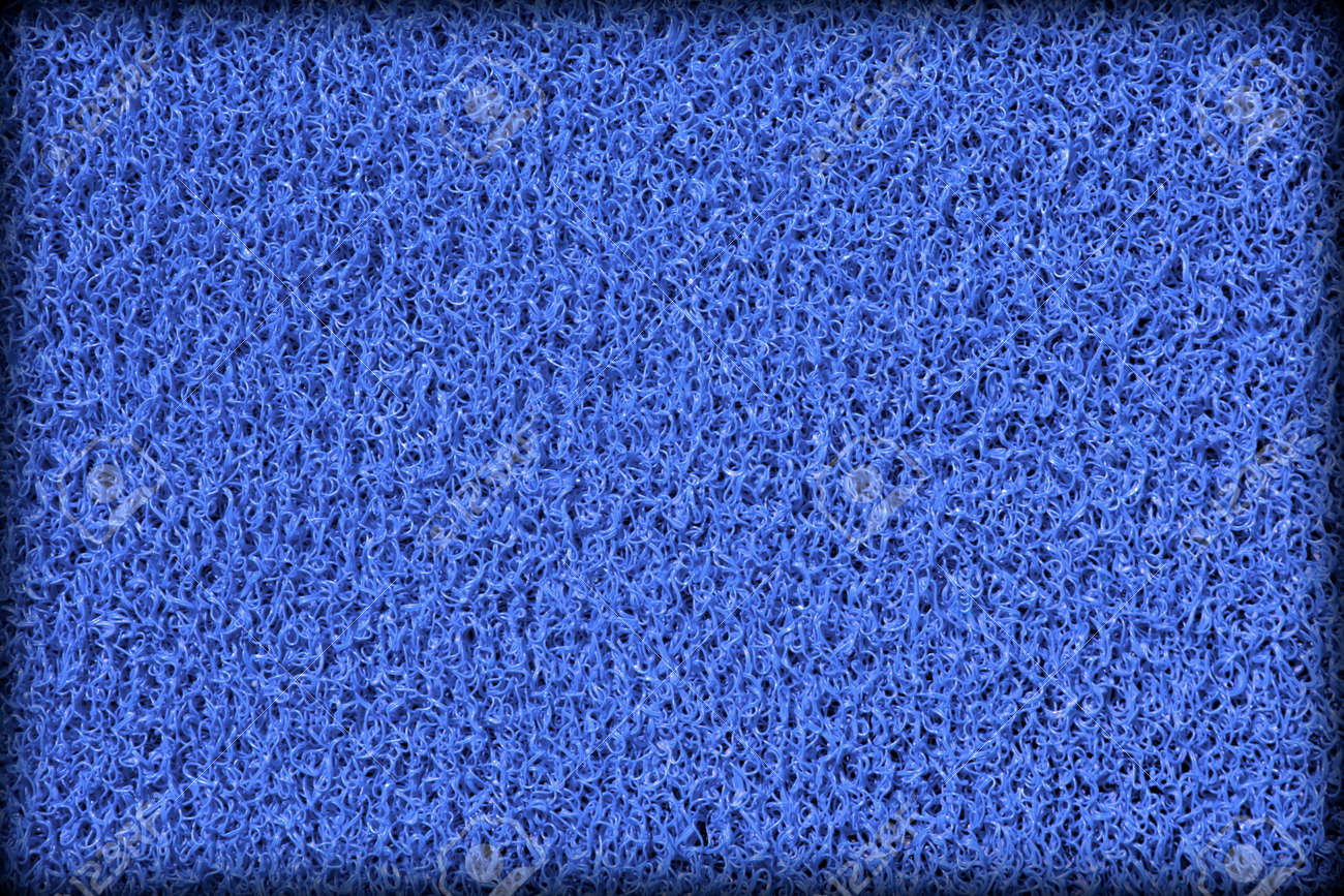 Surface of blue rubber swimming pool mat