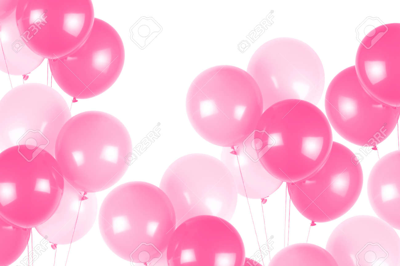 Pink party balloons - 64653727