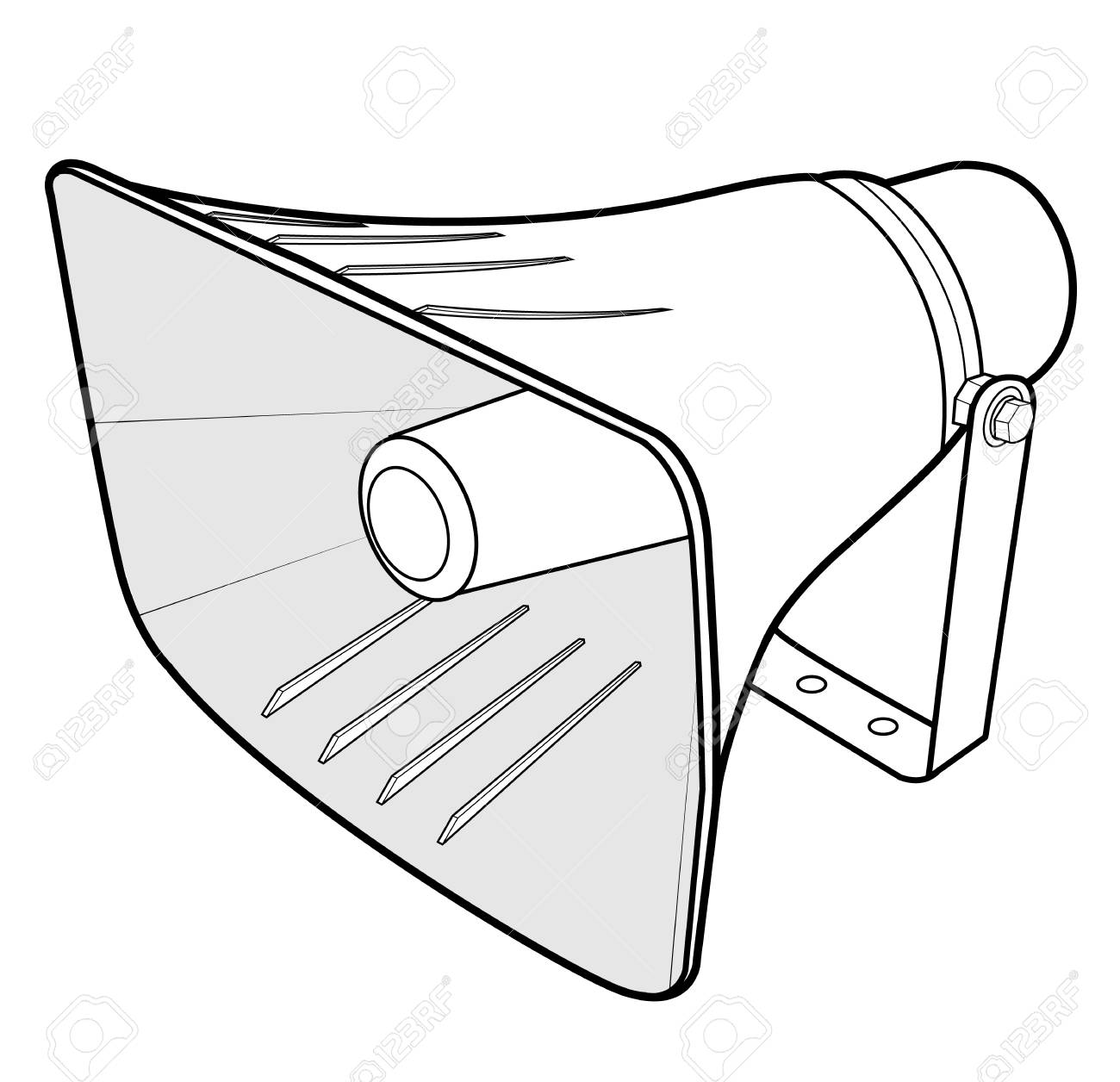 photo relating to Printable Megaphone Template named Template for megaphone