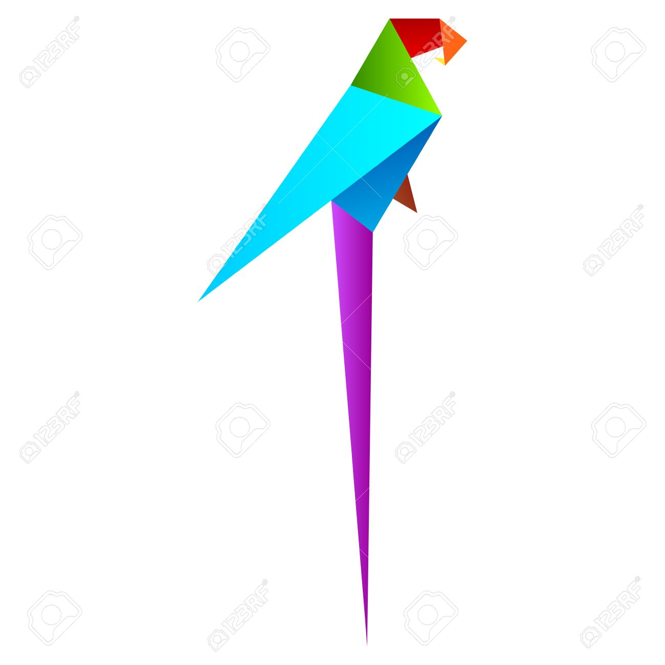 Origami Tutorial - How to fold a Parrot (mit Bildern) | Origami ... | 1300x1300