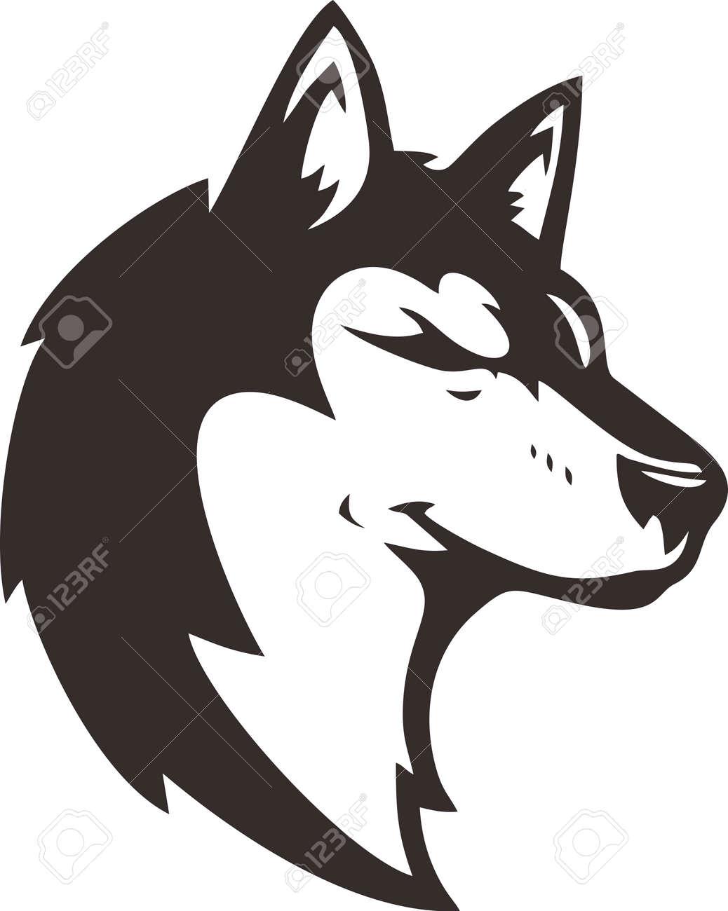狼頭のシルエットのイラスト素材ベクタ Image 40908922