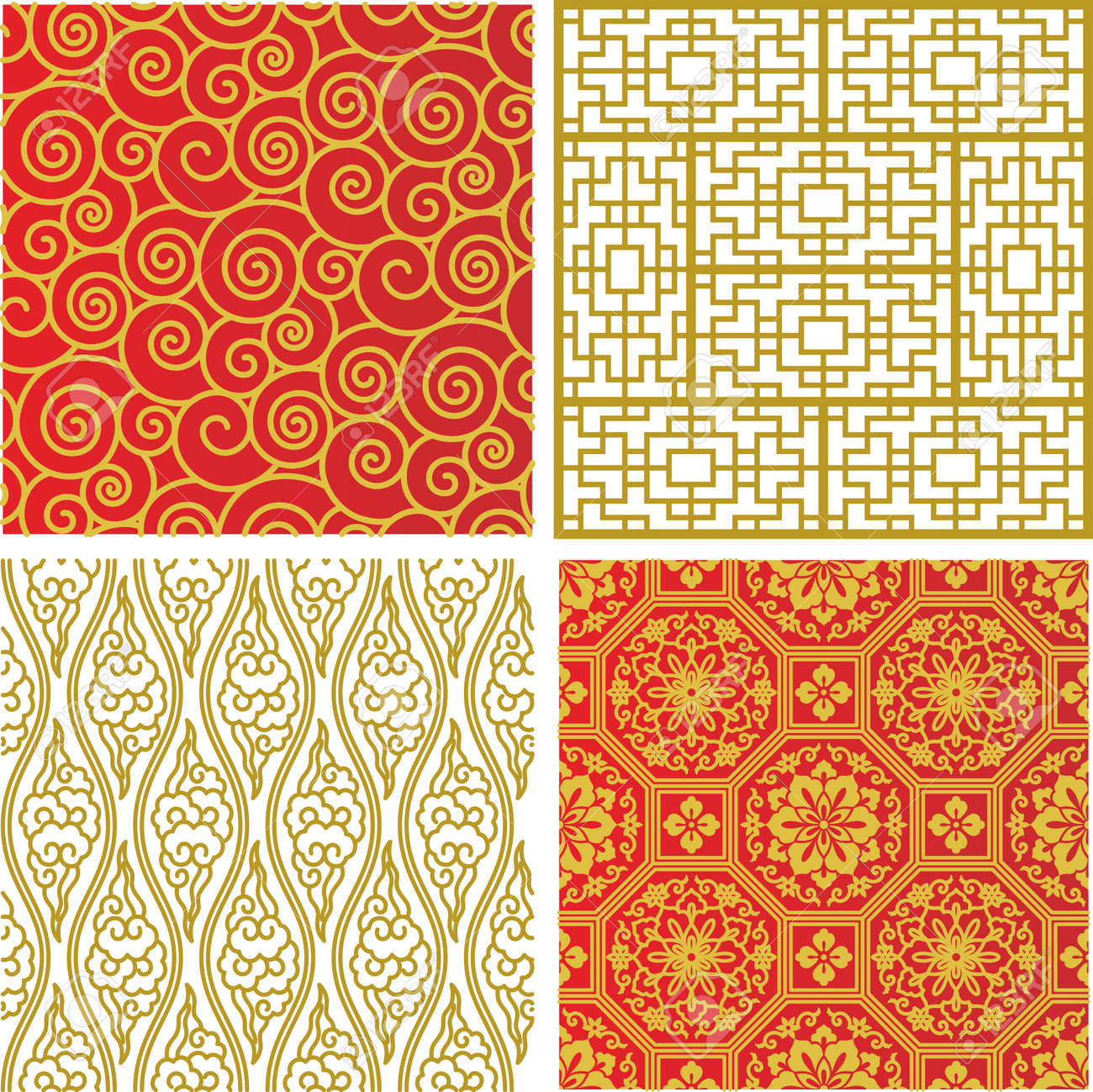 Seamless Traditional Chinese Pattern Stock Vector