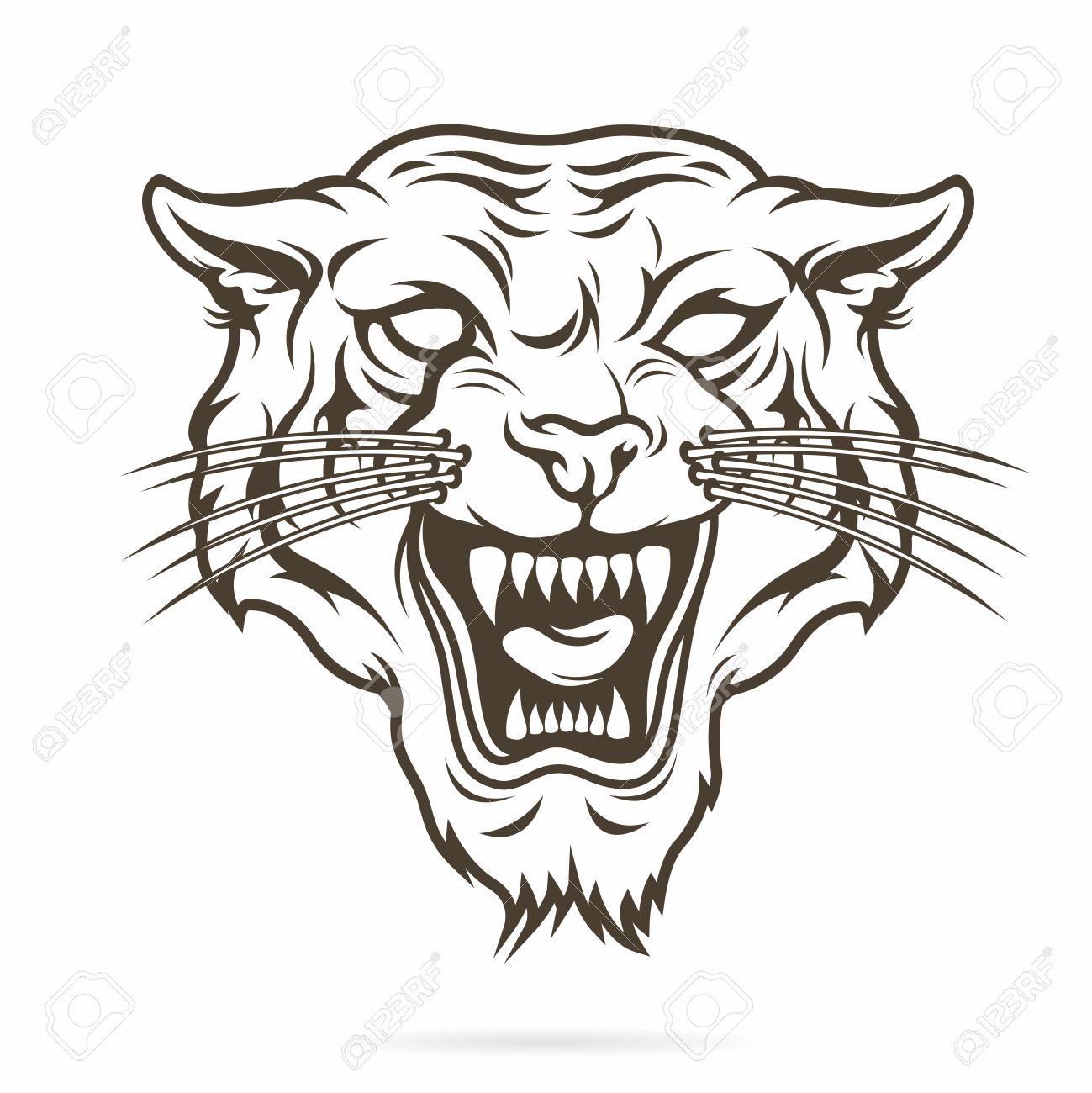 Tattoo Design Angry Tiger Outline Www Miifotos Com