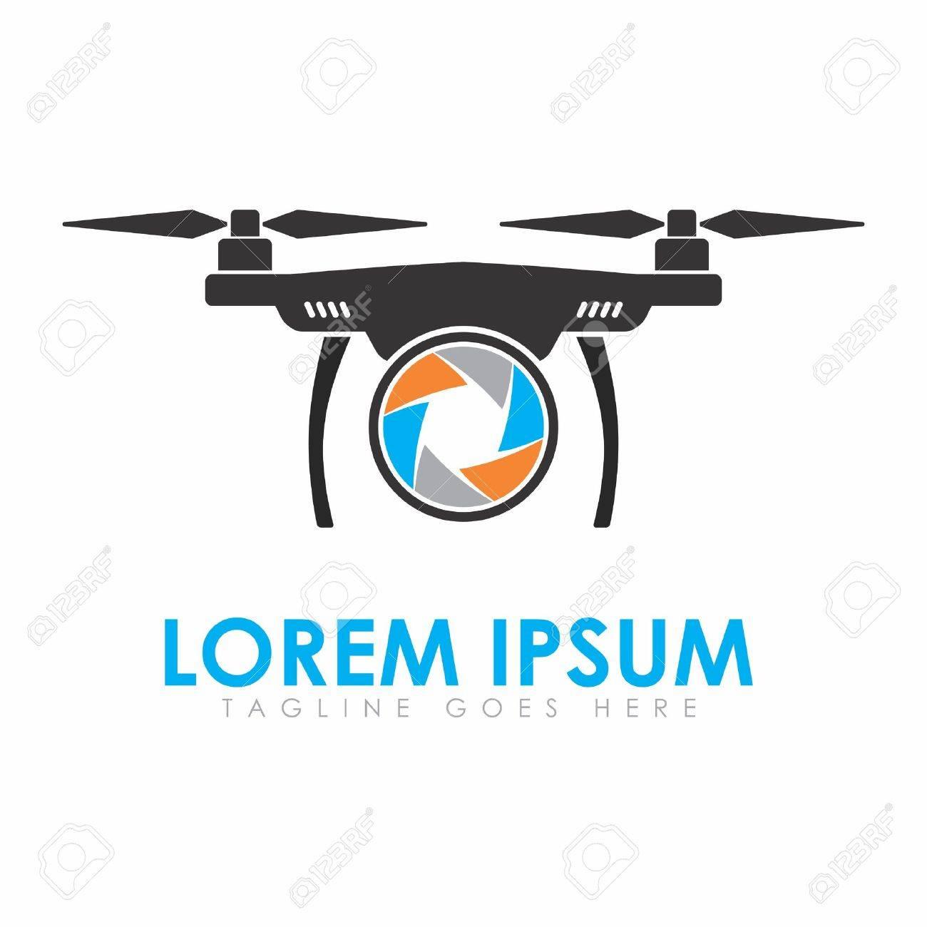 vector vector minimal logo design template for uav quadcopter drone for aerial photographyst123rf