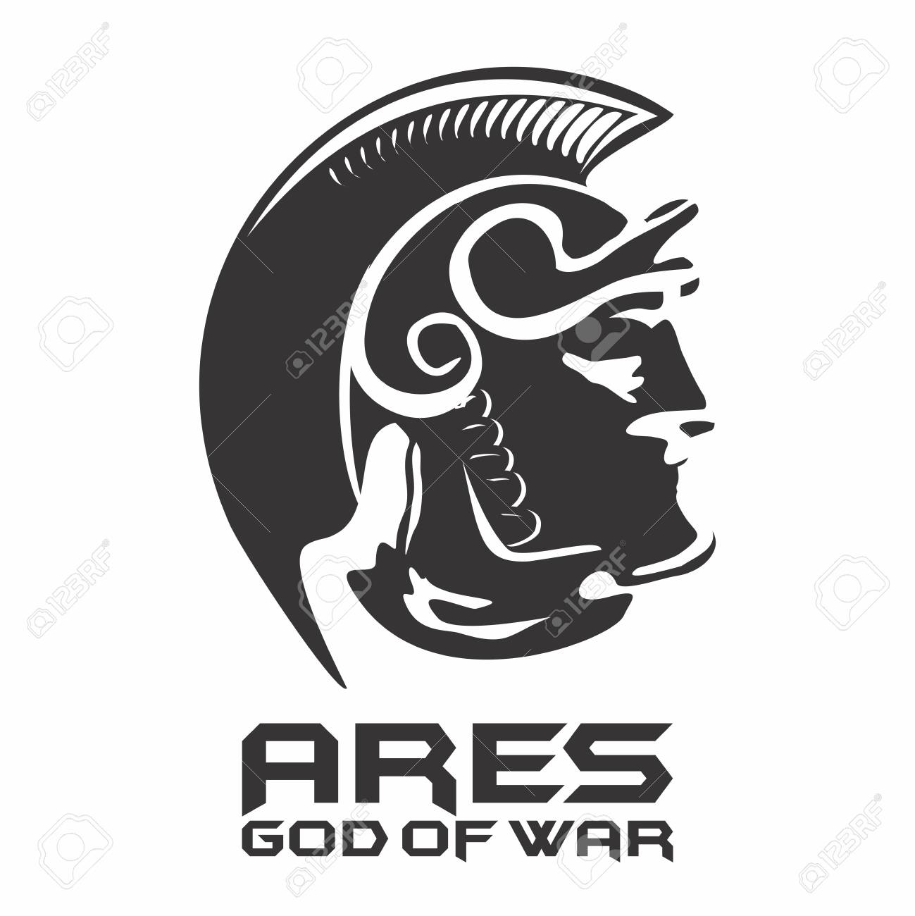 Silhouette of antique greek god of war ares mars in roman silhouette of antique greek god of war ares mars in roman mythology stock vector biocorpaavc Image collections