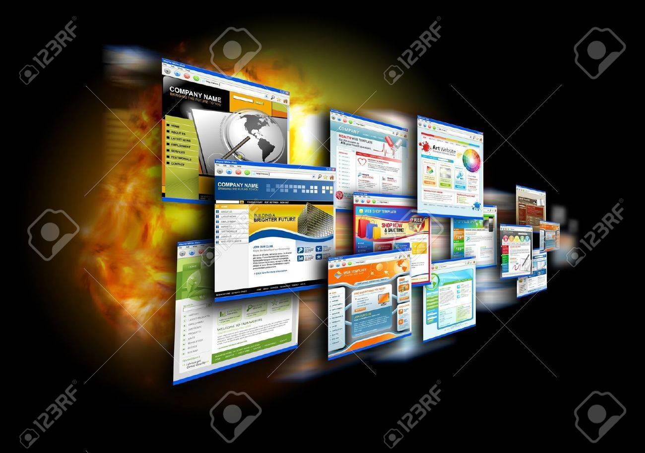 Una Galería De Internet Abstracto Con Plantillas De Sitios Web ...