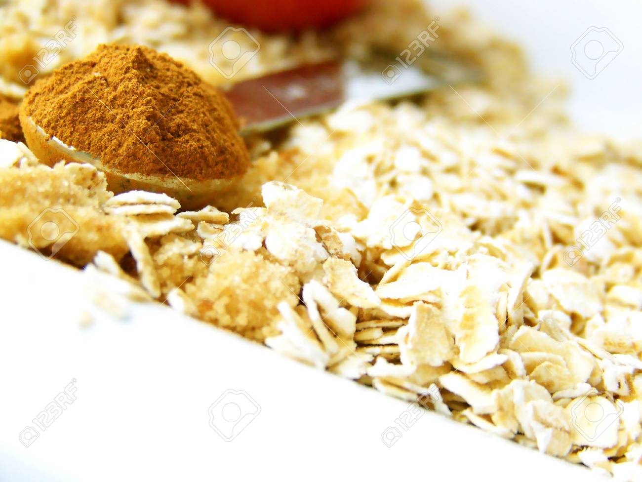 image of a heaping spoonful of cinnamon with brown sugar and