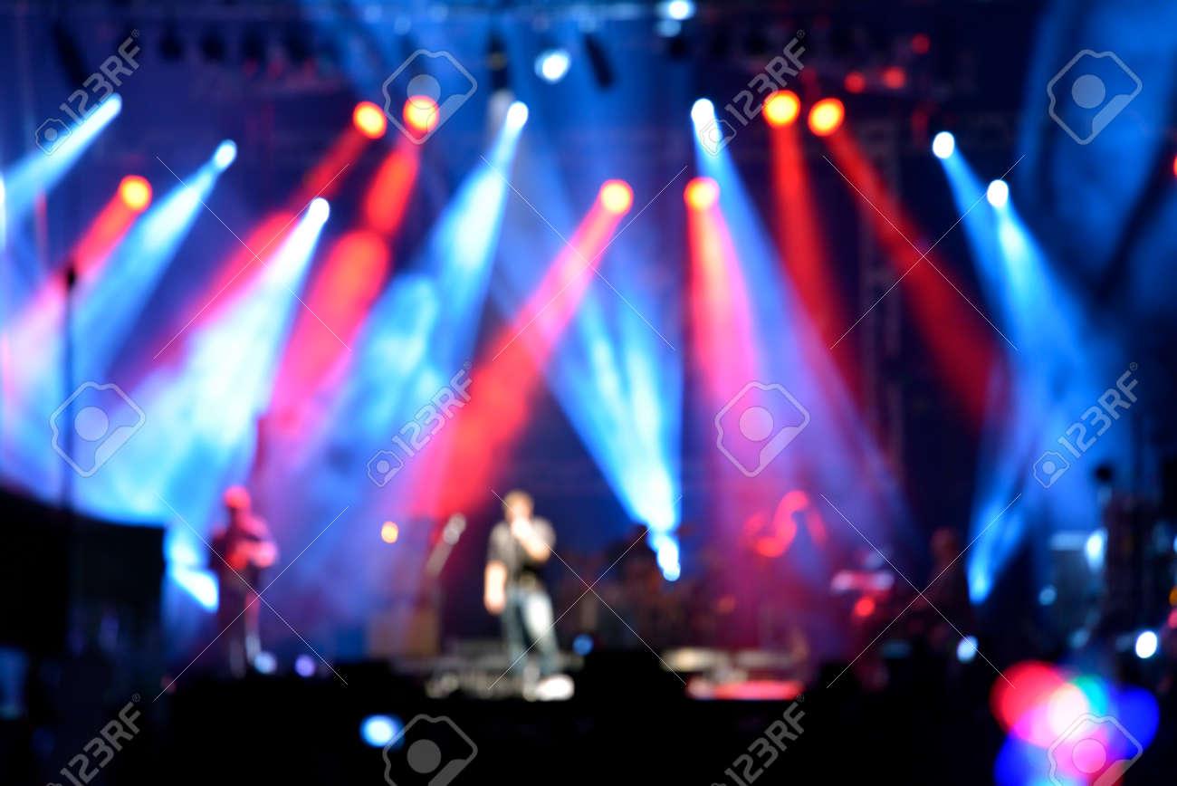 Pics photos rock concert background - Rock Concert Outdoor Rock Concert With Light Background Illumination