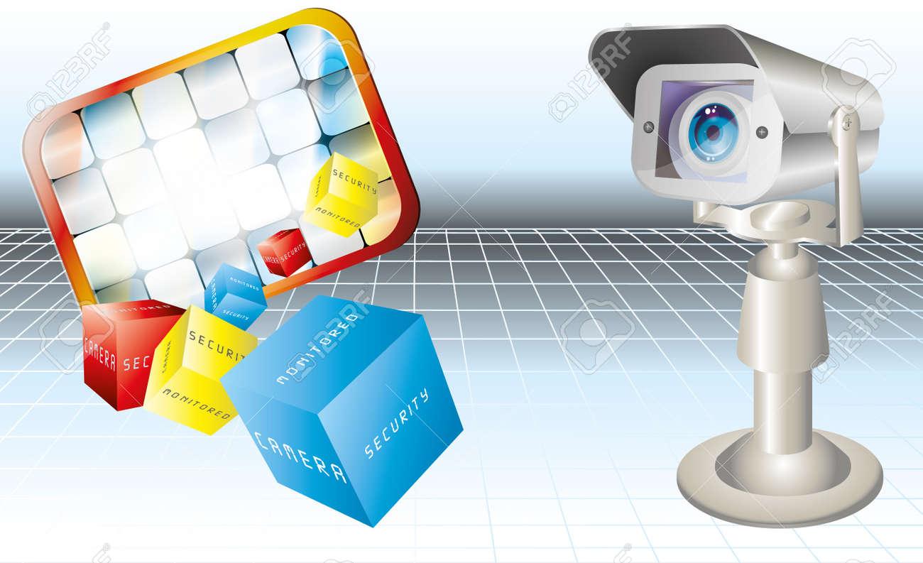 security camera Stock Vector - 8431774