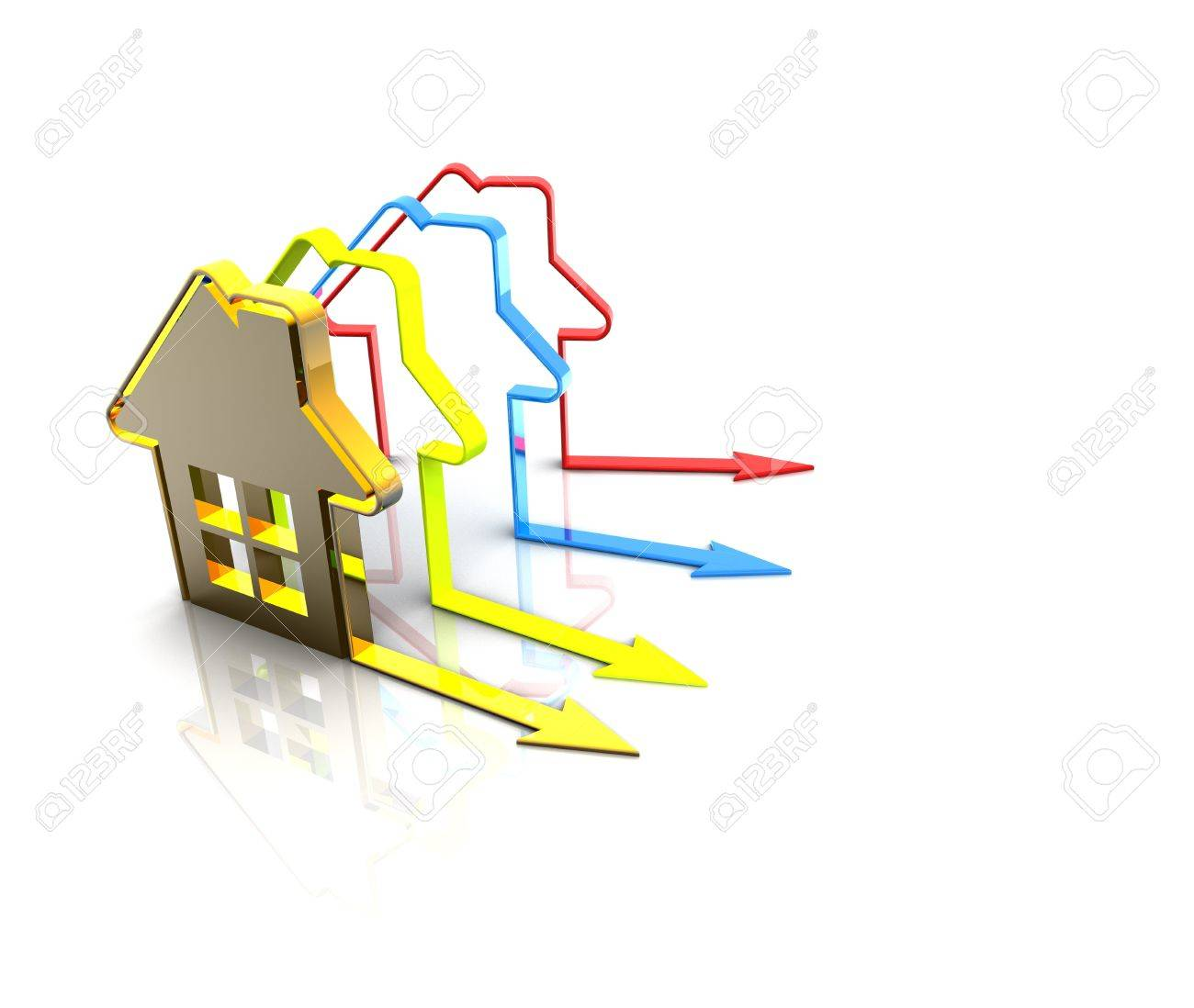 3d render house Stock Photo - 12002333