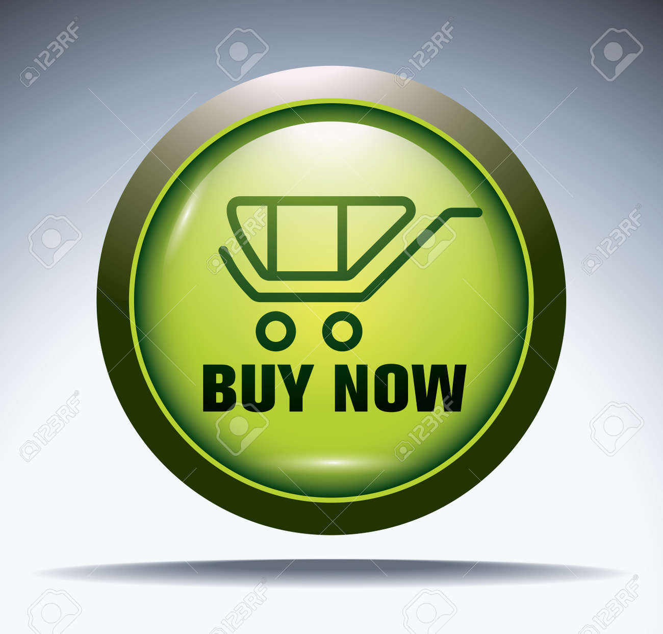 green -buy now- button Stock Vector - 12174027
