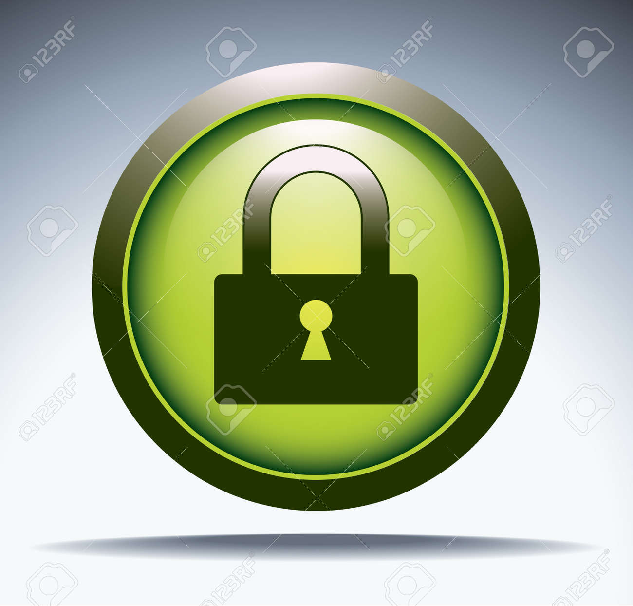 security button Stock Vector - 12174028