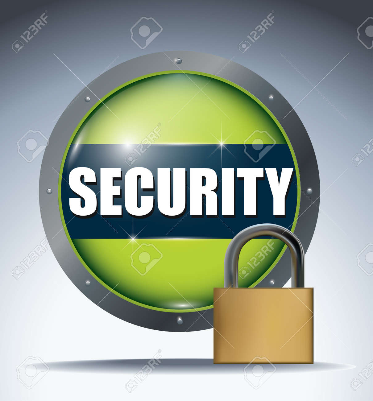 security button Stock Vector - 12174025