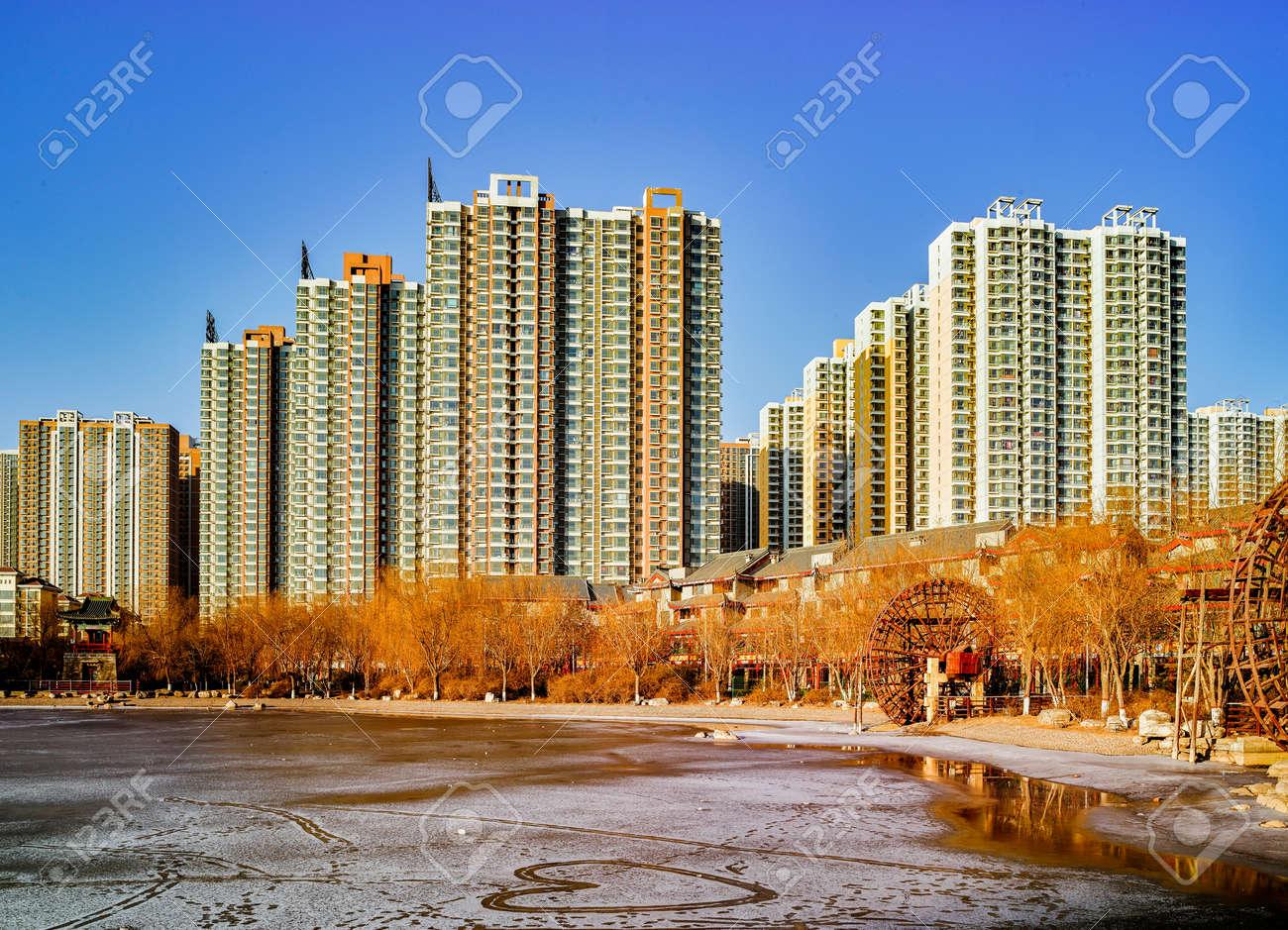 中国河北省石家荘市の住宅地 の写真素材・画像素材 Image 80069987.