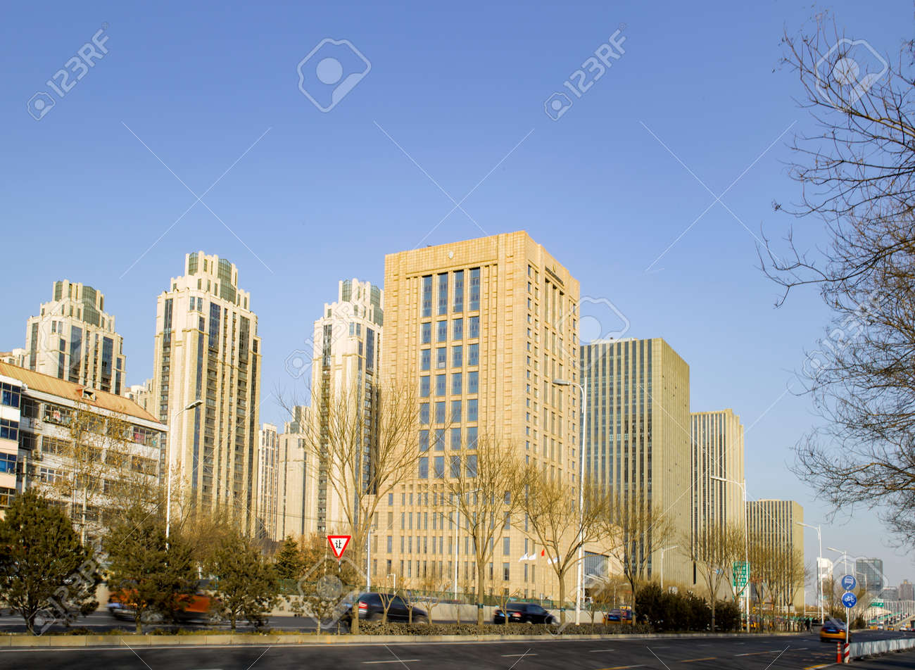 中国・河北省・石家荘市、都市建築景観 の写真素材・画像素材 Image ...