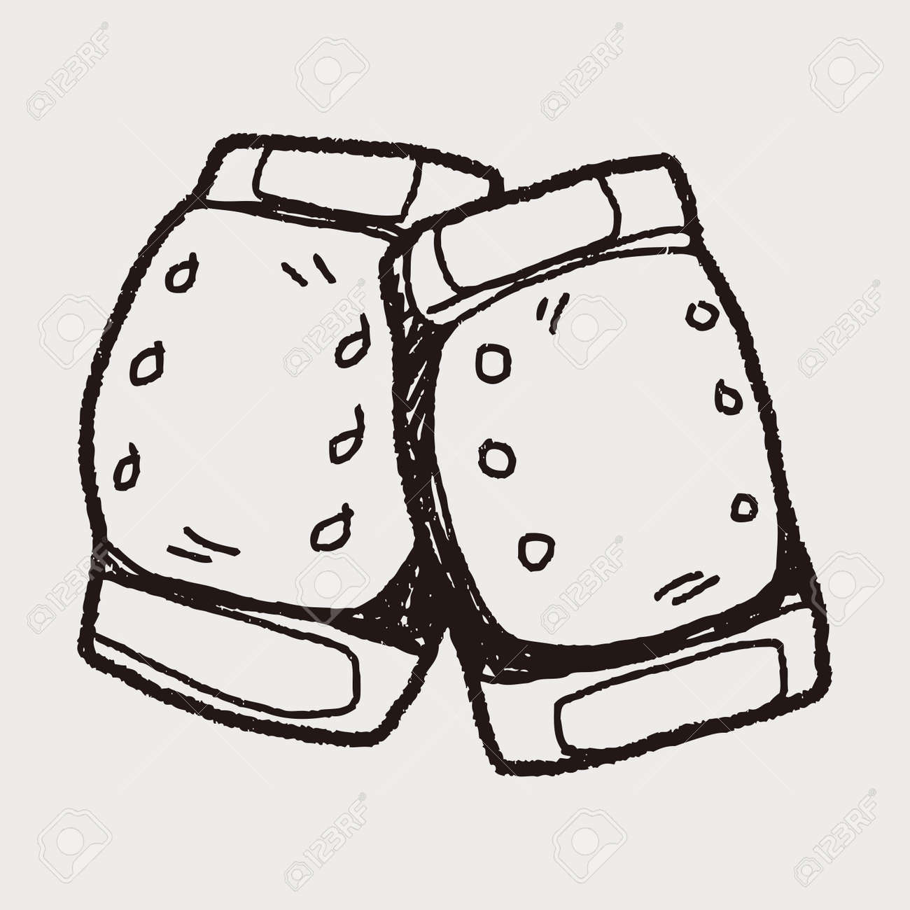 Knee Pads Doodle Royalty Free Cliparts Vectors And Stock Illustration Image 38564317
