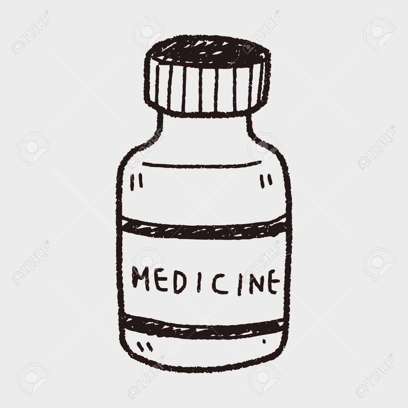 Medication Bottle DrawingCustom Water Bottle
