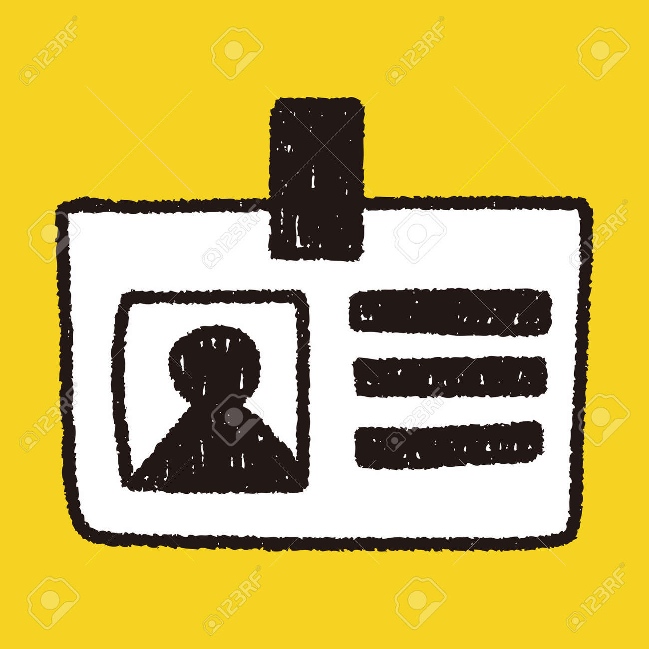 carte d identité dessin Identité Dessin Carte Doodle Clip Art Libres De Droits , Vecteurs