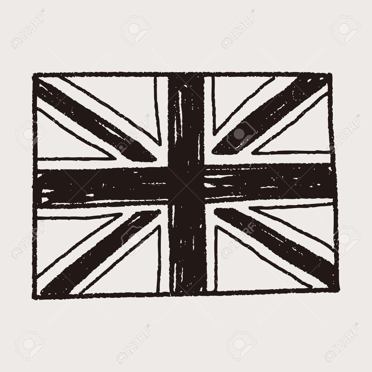 uk flag doodle royalty free cliparts vectors and stock