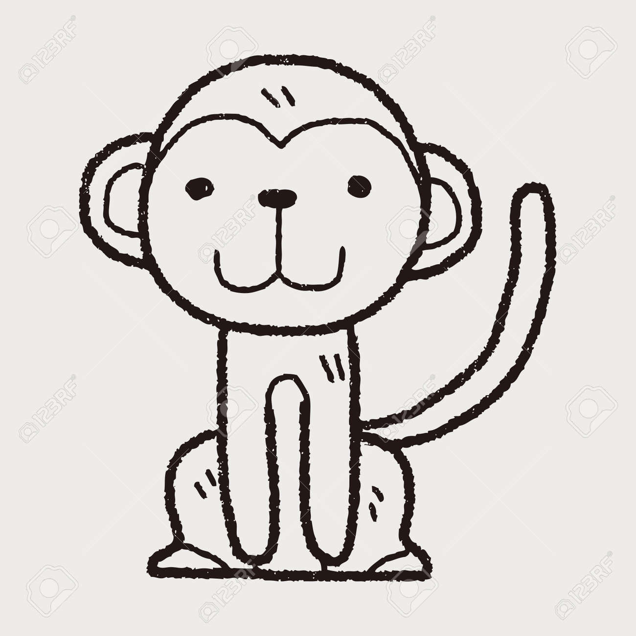 monkey doodle royalty free cliparts vectors and stock