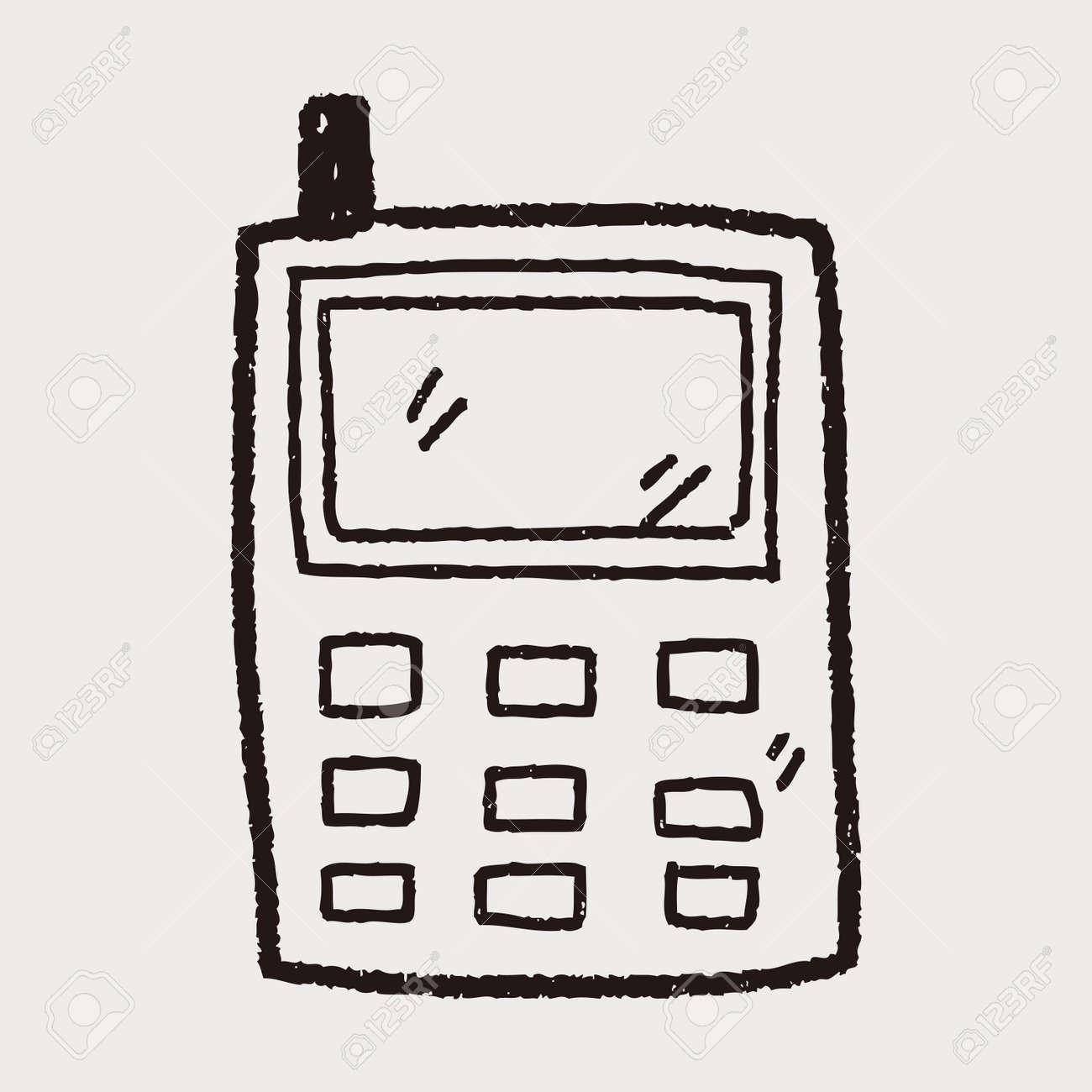 Téléphone Cellulaire Dessin Message Doodle