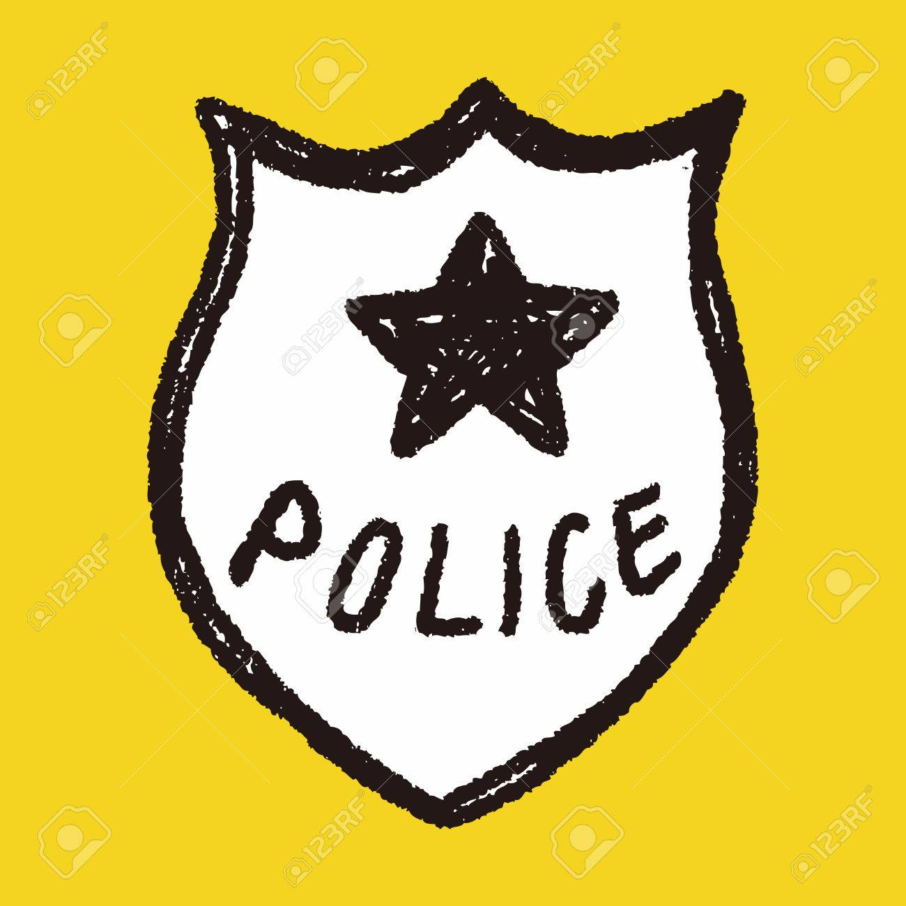 police badge doodle royalty free cliparts vectors and stock rh 123rf com police badge vector png police badge vector art