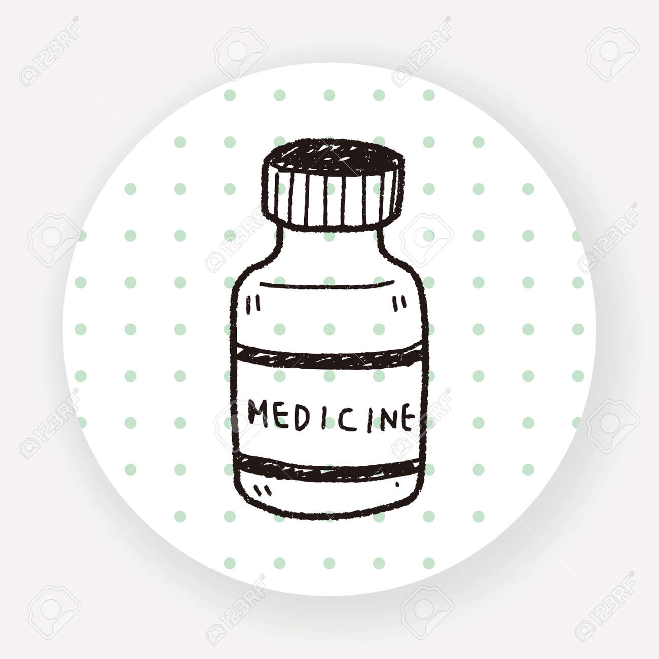 Medicine Bottle Doodle Drawing Royalty Free Cliparts Vectors And