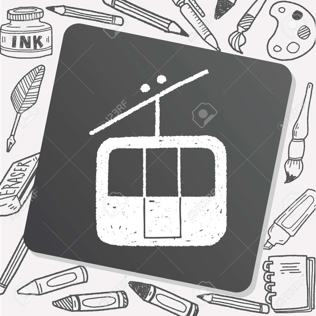 Doodle Cable Car Royalty Free Cliparts, Vectors, And Stock ...