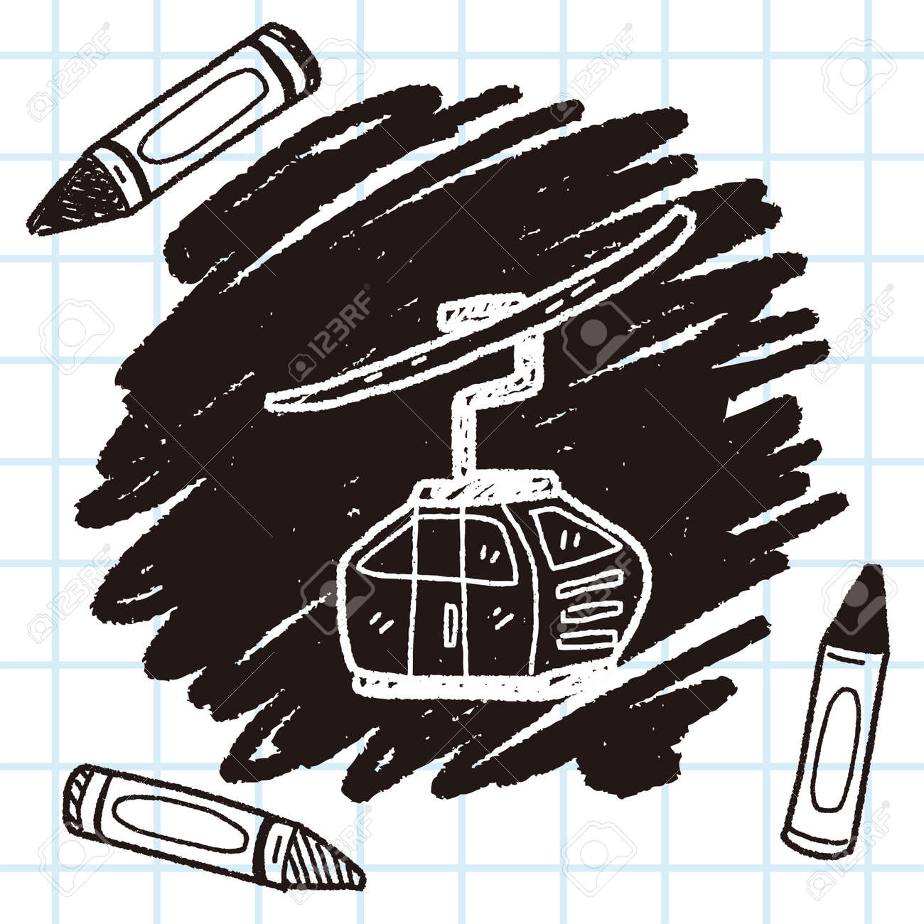 Cable Car Doodle Royalty Free Cliparts, Vectors, And Stock ...