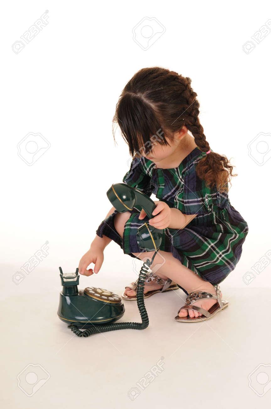 beautiful young girl talking phone Stock Photo - 13509724