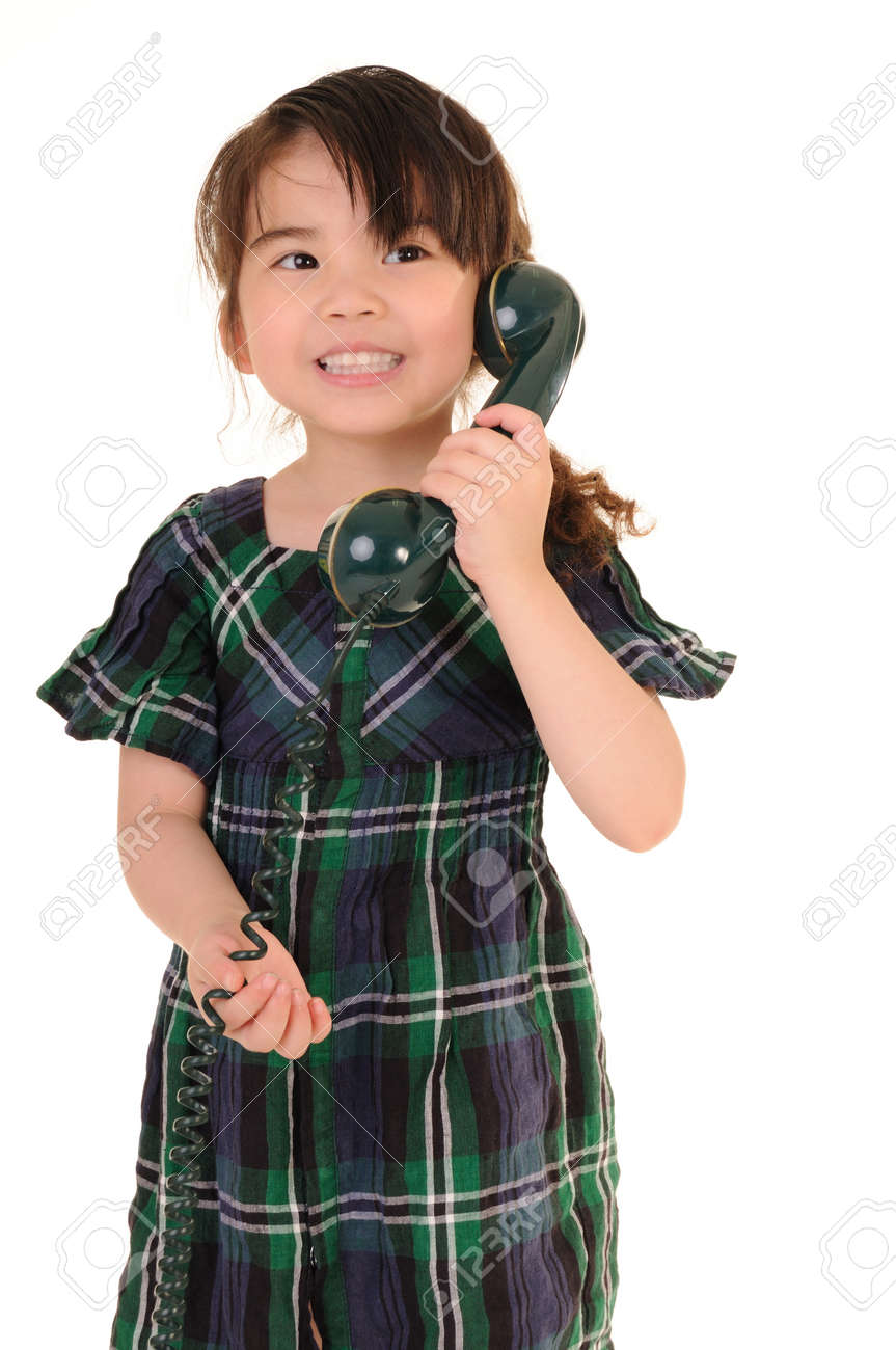 beautiful young girl talking phone Stock Photo - 13509737