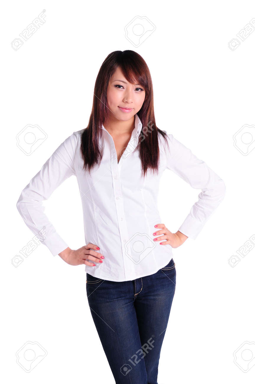 Fashion portrait of young beautiful business woman Stock Photo - 13668193