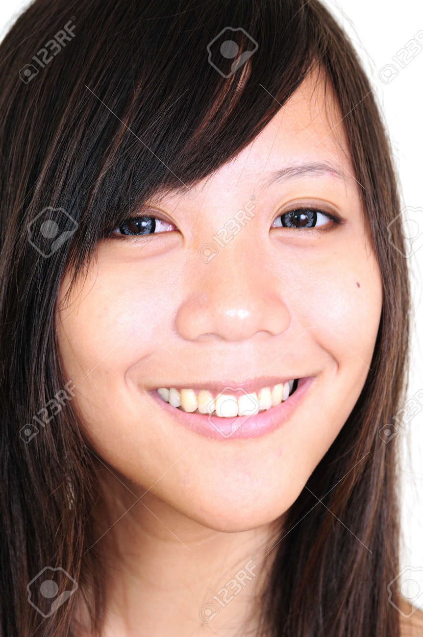 Pretty woman smiling against Stock Photo - 13820744
