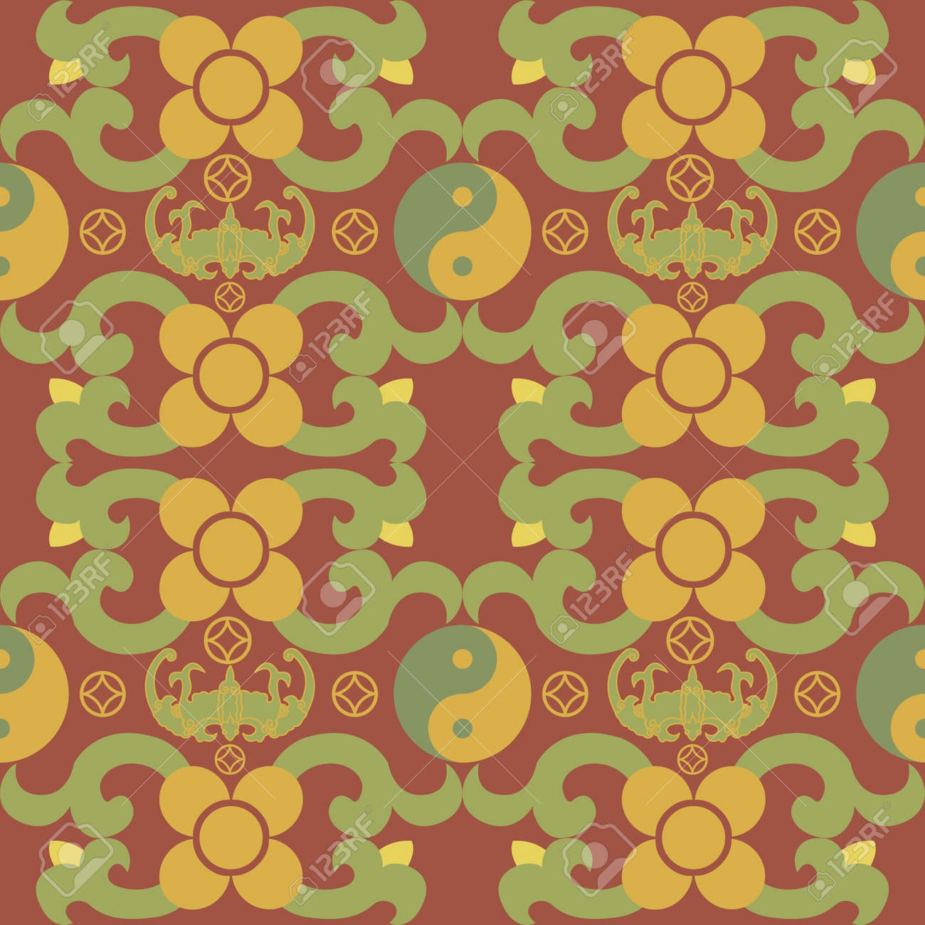 Chinese Pattern Background Stock Vector - 14257672