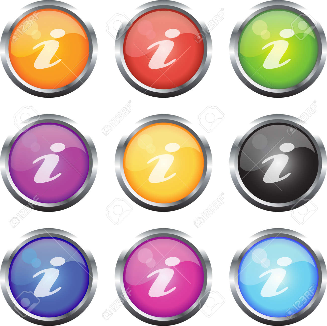 A Colourful Set of Informaton Icons Stock Vector - 3948136