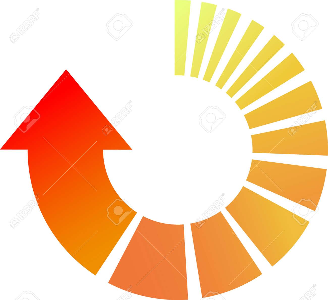 A Colourful Vector Cicular Arrow Illustration Stock Vector - 7916718