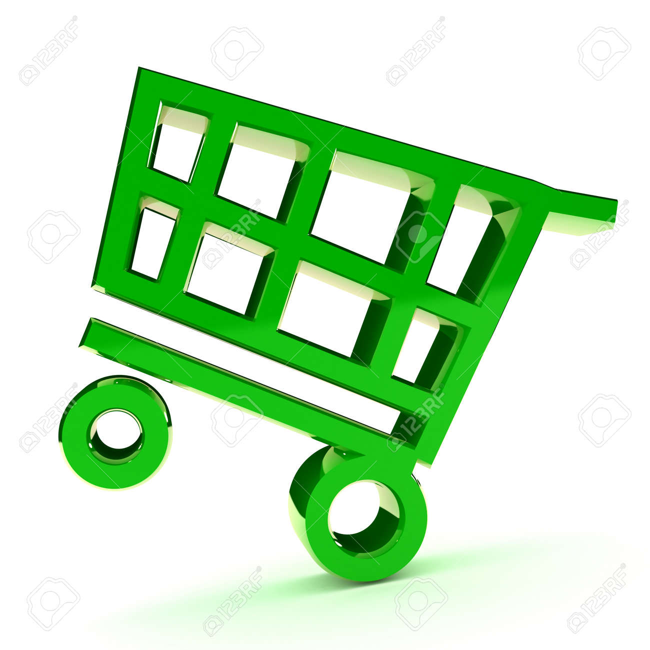 A Colourful 3d Rendered Shopping Cart Illlustration Stock Photo - 8994718
